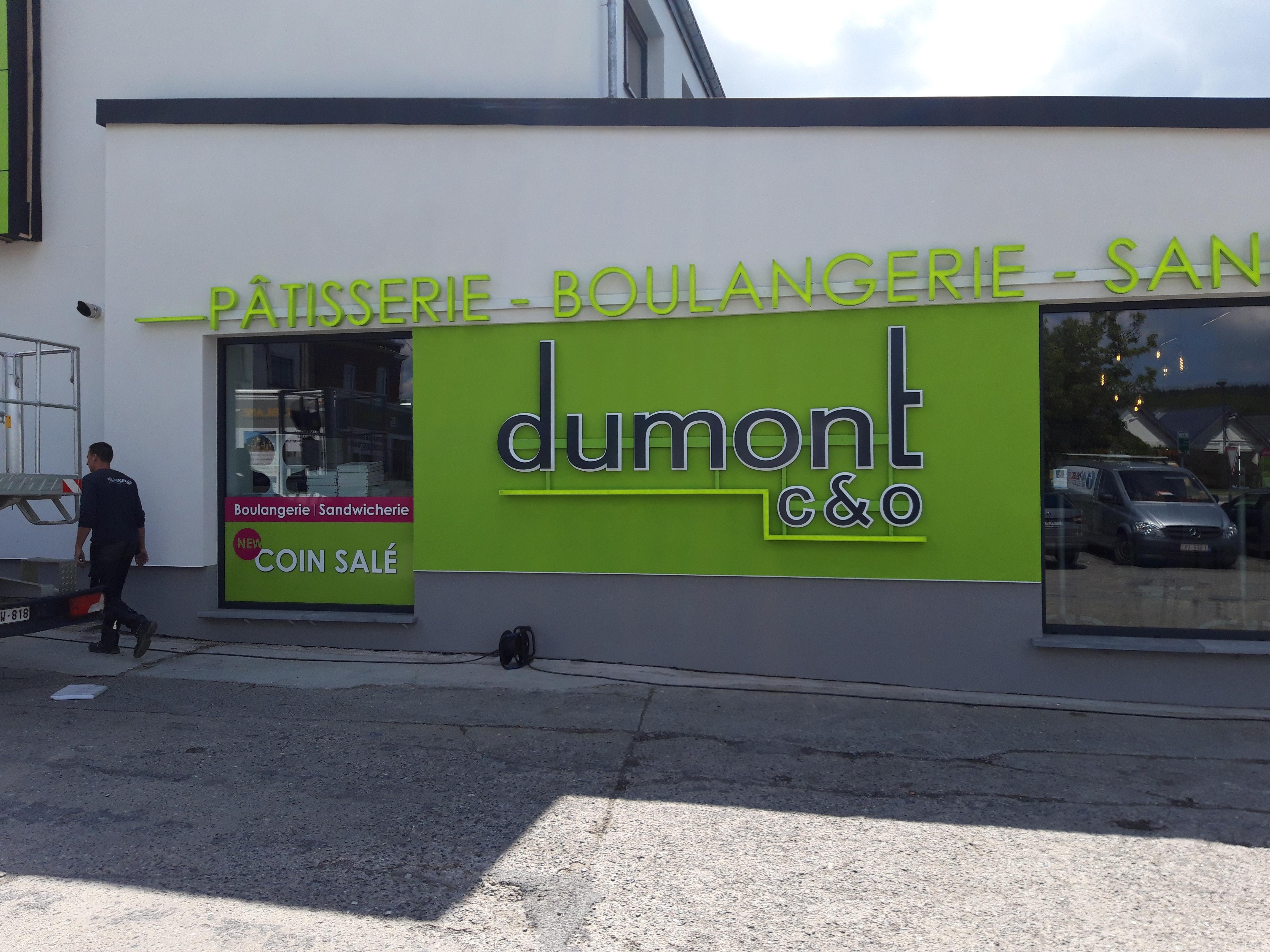 Lettres en relief - Dumont à Floreffe