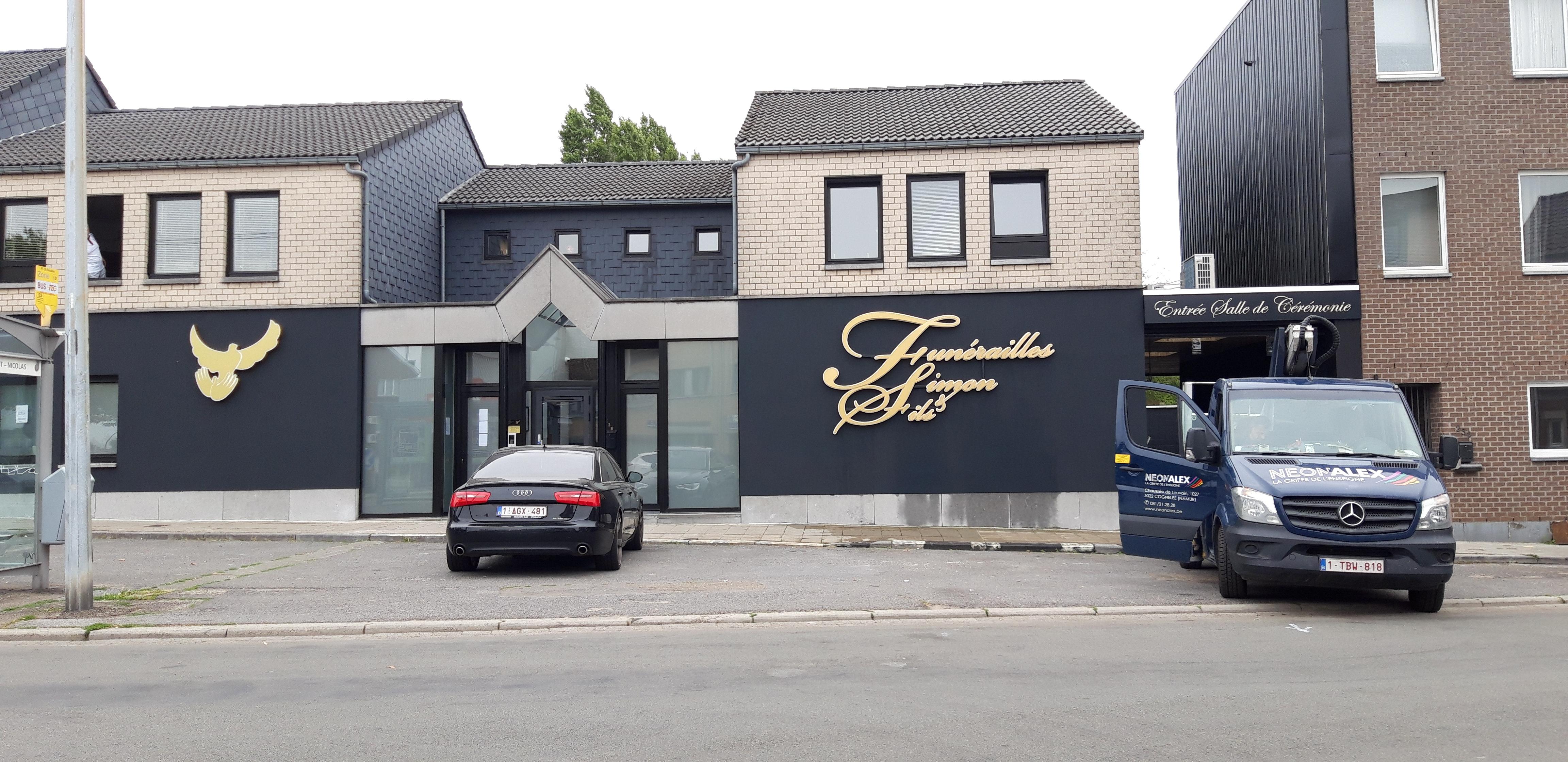 Eclairage indirect - Funerailles Simon à Liège