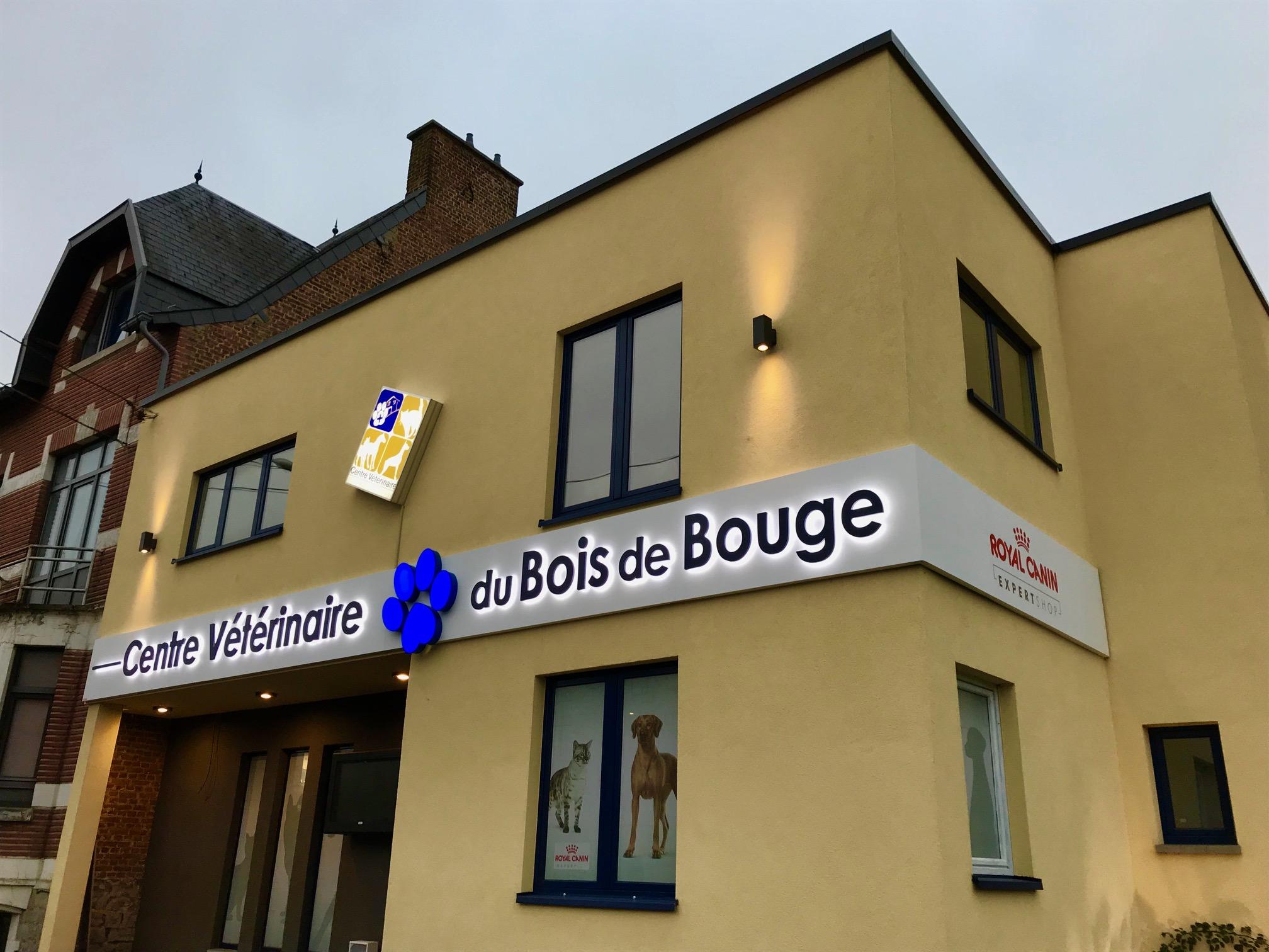 Enseigne et croix de pharmacie Centre vétérinaire du Bois de Bouge