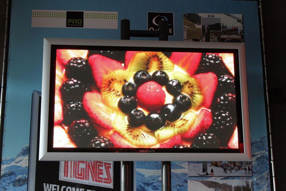 Ecran avec fruits