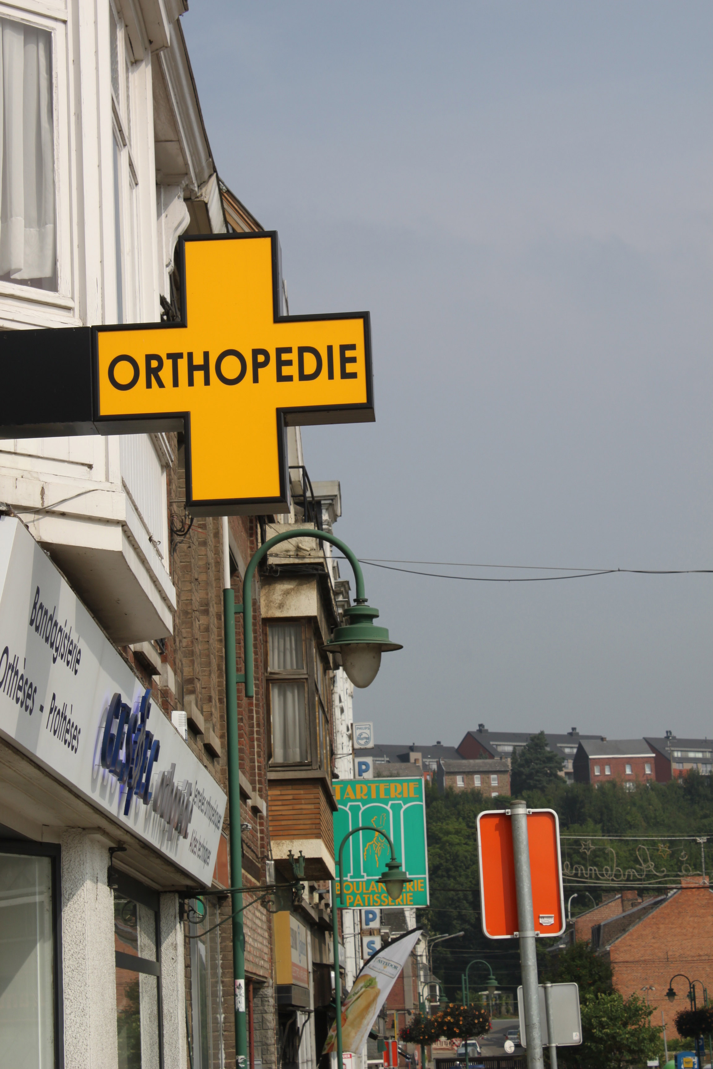 Enseigne et croix de pharmacie Orhopédie