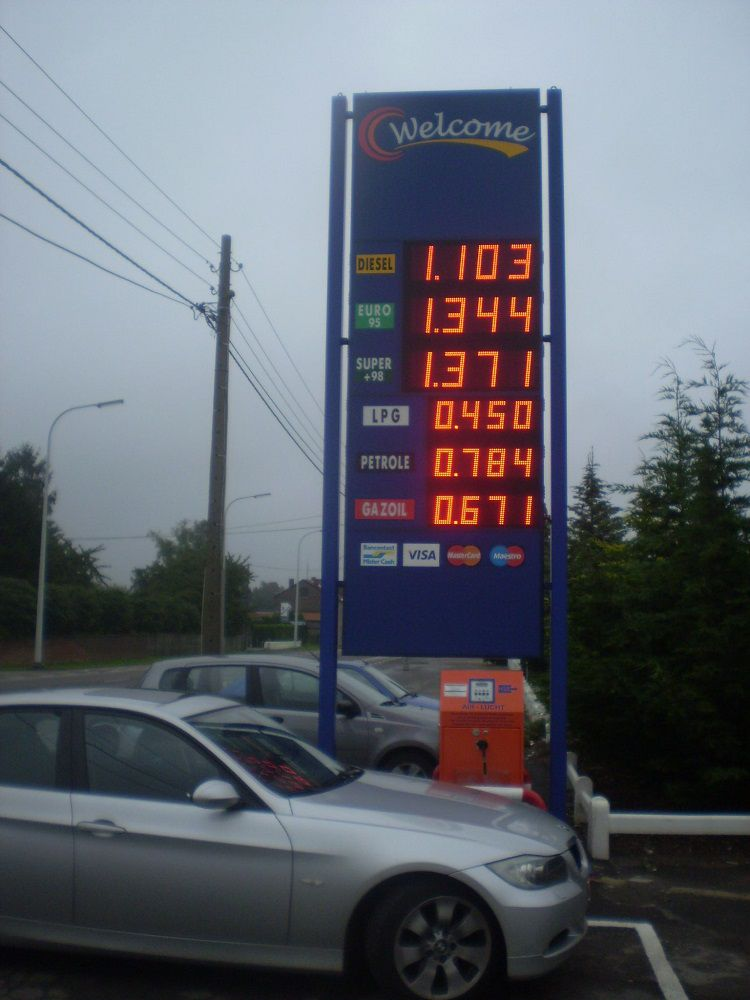 Prix station essence