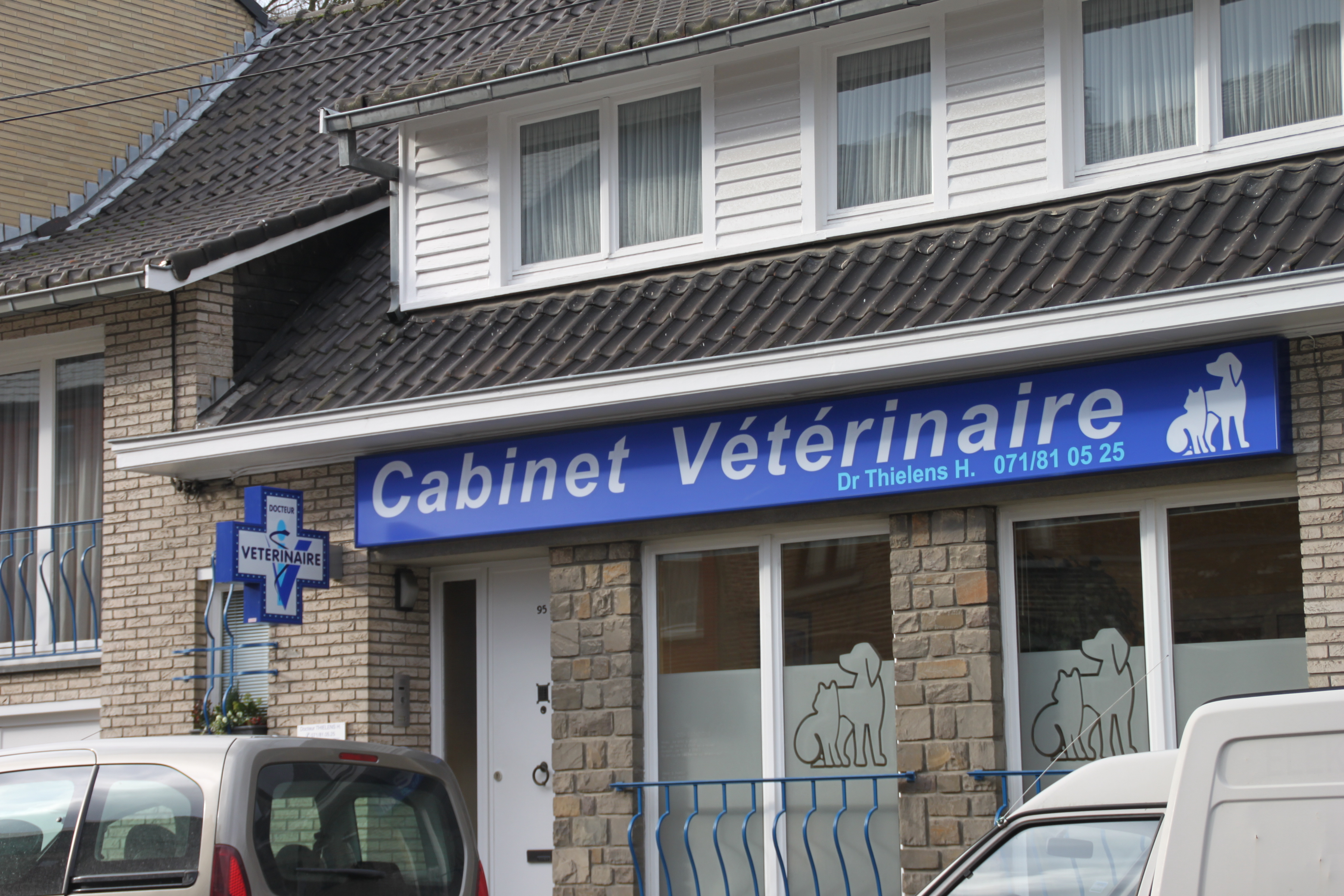 Enseigne et croix de pharmacie Vétérinaire Fleurus