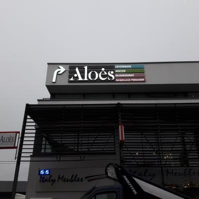 Lettres en relief - Aloes