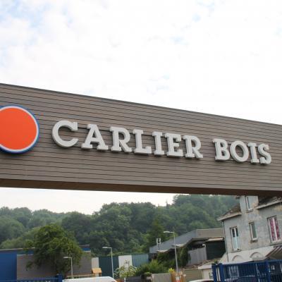 Lettres en relief Carlier Bois Namur