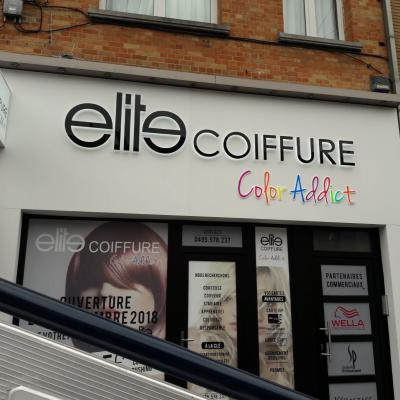 Lettres en relief - Elite Coiffure Bruxelles