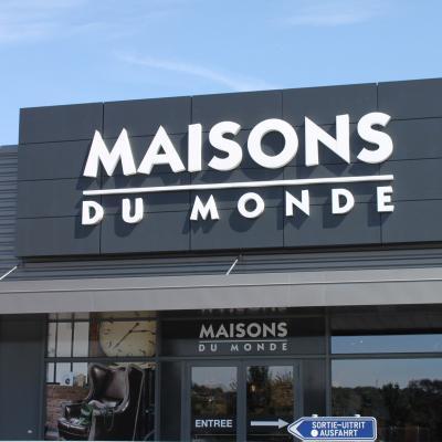 Lettres en relief Maison du Monde Verviers