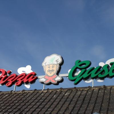 Lettre en relief Pizza Gusto