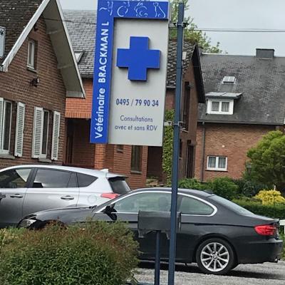 Enseigne et croix de pharmacie Vétérinaire La Bruyerre