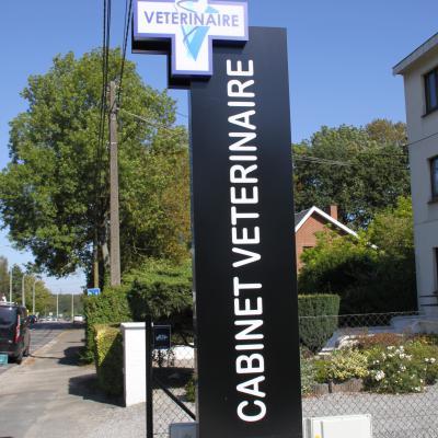 Enseigne et croix de pharmacie Vétérinaire Mont