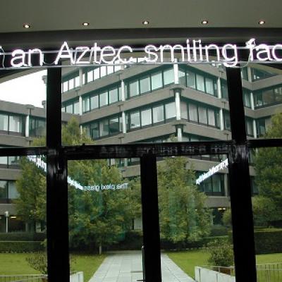 Aztec smiling